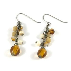 Gorgeous Vintage Faux Amber Earrings